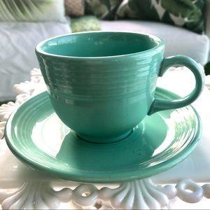 Homer Laughlin Fiestaware Green Cup & Saucer